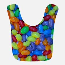 Colorful jellybeans pattern Bib