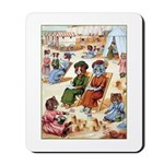 CATS AT THE BEACH Mousepad