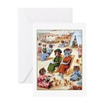 CATS AT THE BEACH Greeting Card
