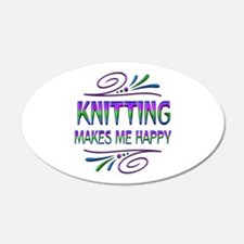 Knitting Makes Me Happy Wall Decal