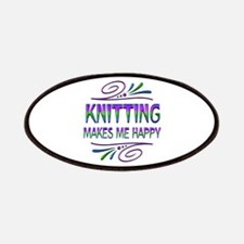 Knitting Makes Me Happy Patch