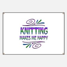 Knitting Makes Me Happy Banner