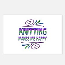 Knitting Makes Me Happy Postcards (Package of 8)