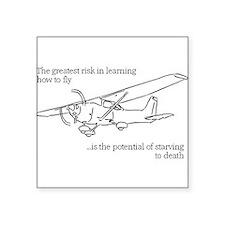 """Funny Aerospace Square Sticker 3"""" x 3"""""""