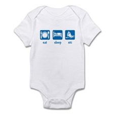 eat sleep ski Infant Bodysuit