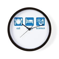 eat drink science Wall Clock