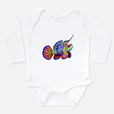 Unique Psychedelic Long Sleeve Infant Bodysuit