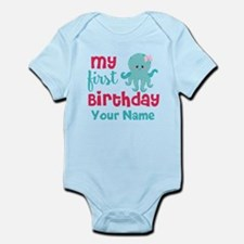 1st Birthday Octopus Personalized Body Suit