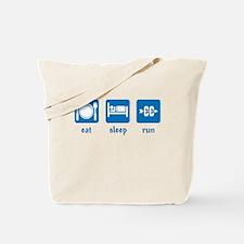 eat sleep run (CC) Tote Bag