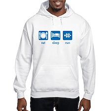 eat sleep run (CC) Hoodie Sweatshirt