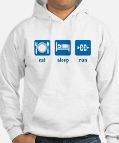 eat sleep run (CC) Jumper Hoody