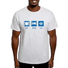 eat sleep run (CC) T-Shirt