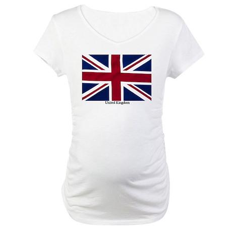 Union Jack Flag Maternity T-Shirt
