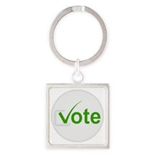 Vote for Green! Square Keychain