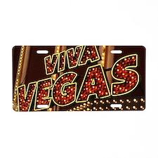Viva Las Vegas Aluminum License Plate