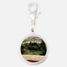 Tuscany Silver Round Charm
