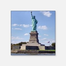"The Statue of Liberty Square Sticker 3"" x 3"""