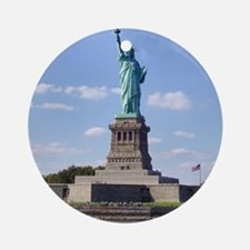 The Statue of Liberty Round Ornament