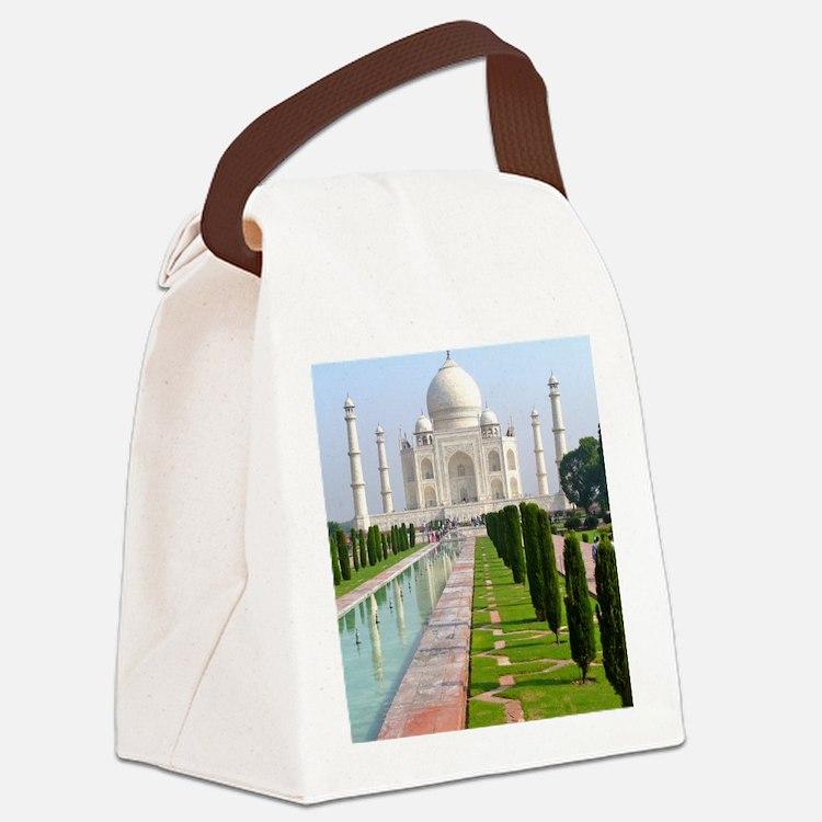 Taj Mahal Canvas Lunch Bag
