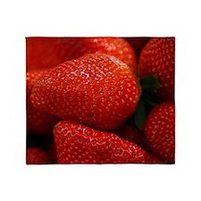 Strawberries Throw Blanket
