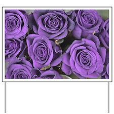 Purple Roses Yard Sign