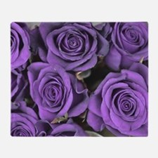 Purple Roses Throw Blanket