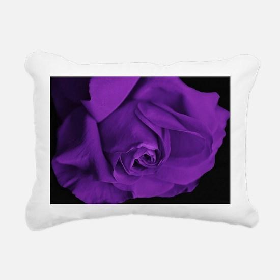 Purple Roses Rectangular Canvas Pillow