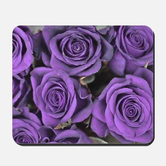 Purple Roses Mousepad