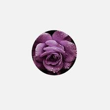 Purple Roses Mini Button