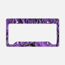 Purple Roses License Plate Holder