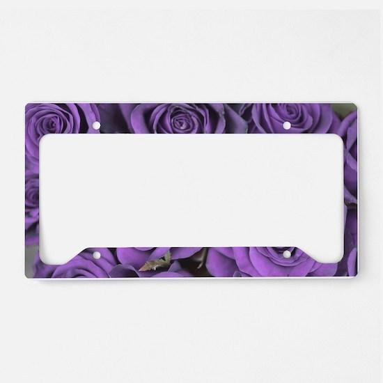 Purple Roses License Plate Holder