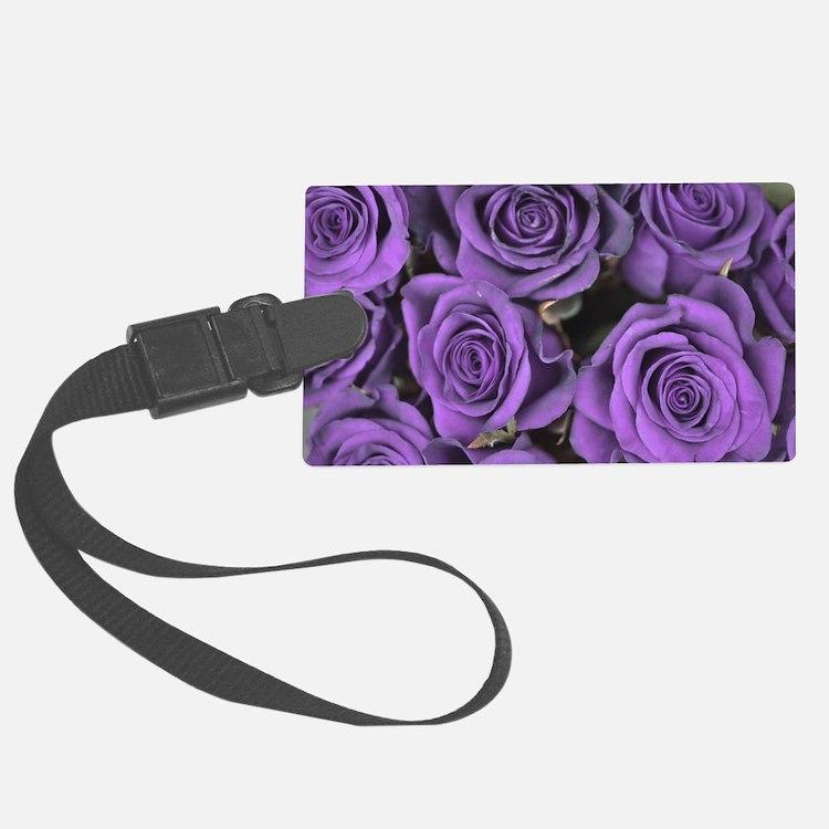 Purple Roses Luggage Tag