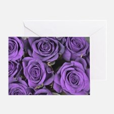 Purple Roses Greeting Card