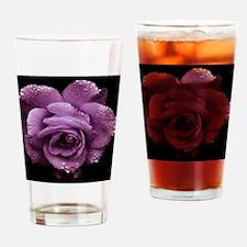 Purple Roses Drinking Glass