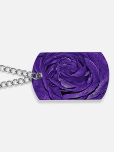 Purple Roses Dog Tags