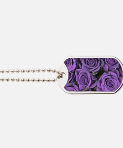 Purple Roses Dog Tags