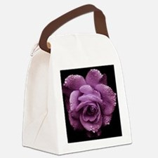 Purple Roses Canvas Lunch Bag