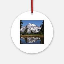 Mount Rainier Round Ornament