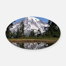 Mount Rainier Oval Car Magnet