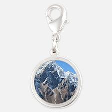 Mount Everest Silver Round Charm