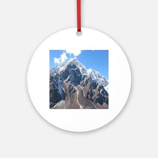 Mount Everest Round Ornament
