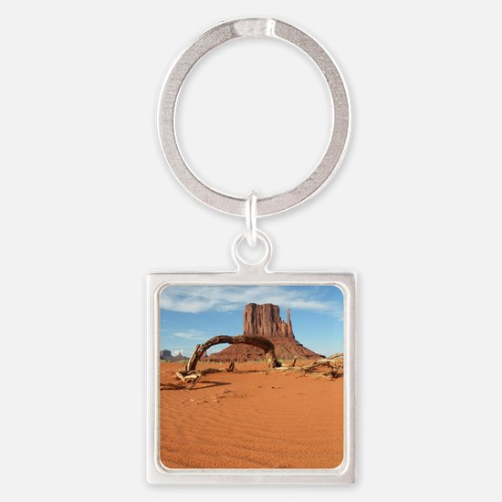 Monument Valley Square Keychain