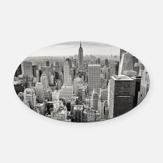 Manhattan Oval Car Magnet