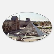 Louvre Pyramid Sticker (Oval)