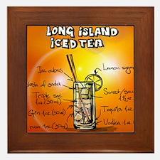 Long Island Iced Tea Framed Tile