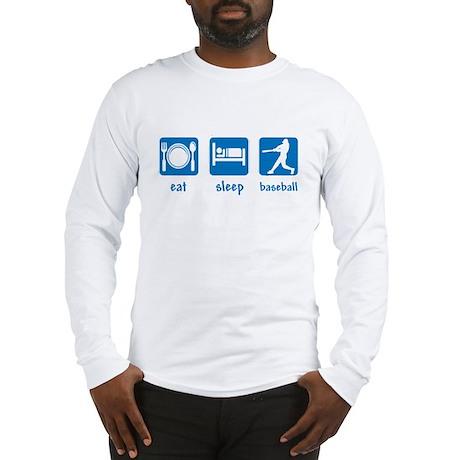 eat sleep baseball Long Sleeve T-Shirt