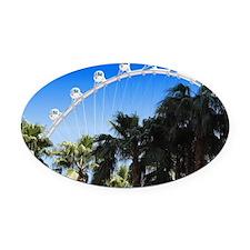 Las Vegas Ferris Wheel Oval Car Magnet