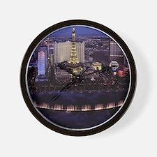 Las Vegas by Night Wall Clock