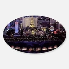 Las Vegas by Night Sticker (Oval)