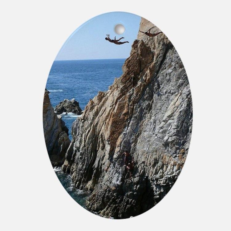 La Quebrada Cliff Divers Oval Ornament